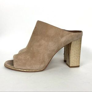 DONALD J. PLINER Mules SZ 9 Nude Suede Leather